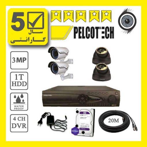 pelco4p 510x510 - پکیج 4 عدد دوربین مداربسته