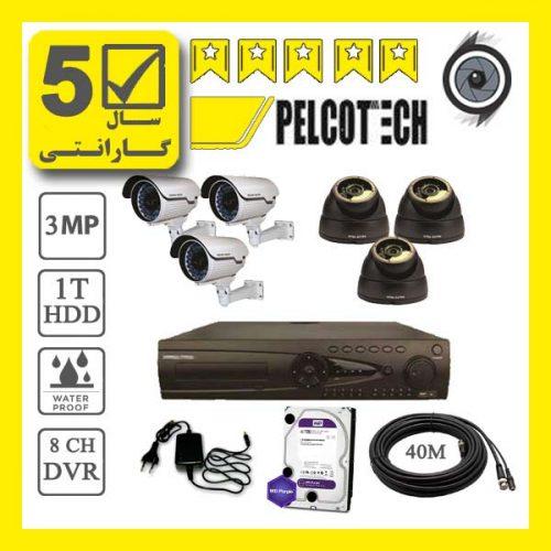 pelco6p 500x500 - پکیج 6 عدد دوربین مداربسته